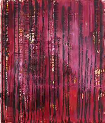 Ohne Titel (Tango), Acryl auf Nessel, 135x115 cm