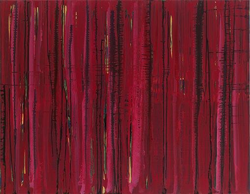 Ohne Titel (Hitze), 2012, Acryl auf Nessel, 105x135 cm