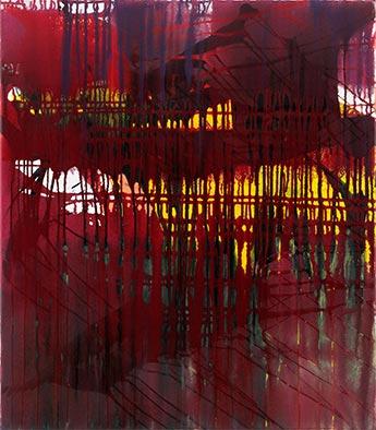 Durchblick, 2012, Acryl auf Nessel, 80x70 cm