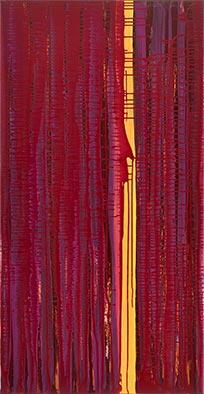 Anfang, 2012, Acryl, Schellack auf Nessel, 135x70 cm