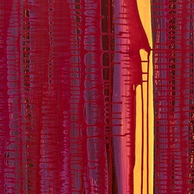 Anfang, 2012, Acryl, Schellack auf Nessel, 135x70 cm (Ausschnitt)