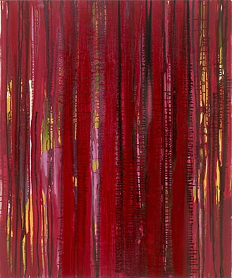 Verdeckt, 2013, Acryl auf Nessel, 120x100 cm