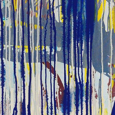 Im Blau, 2012, Acryl auf Nessel, 120x100 cm (Ausschnitt)