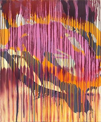 Ohne Titel, 2012, Acryl auf Nessel, 120x100 cm