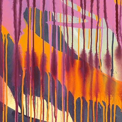 Ohne Titel, 2012, Acryl auf Nessel, 120x100 cm (Ausschnitt)