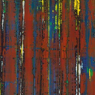 Herbstdunkel, 2012, Acryl, Schellack auf Nessel, 135x70 cm (Ausschnitt)