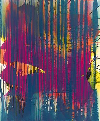 Island, 2012, Acryl auf Nessel, 120x100 cm