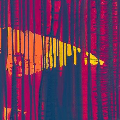 Island, 2012, Acryl auf Nessel, 120x100 cm (Ausschnitt)