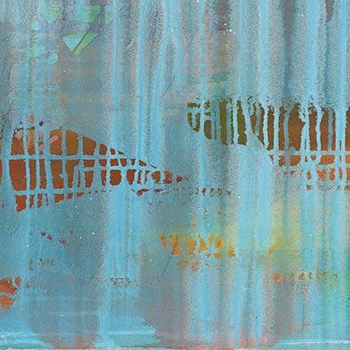 Januarlicht I, 2013, Acryl auf Nessel, 80x70 cm