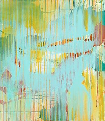 Januarlicht II, 2013, Acryl auf Nessel, 80x70 cm