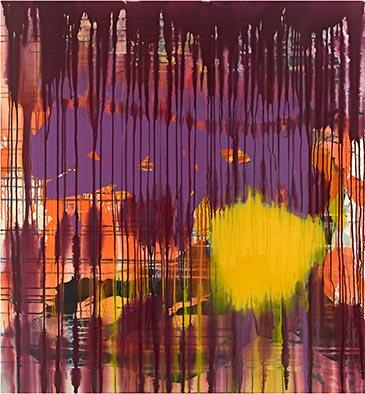 Ohne Titel, 2012, Acryl auf Nessel, 135x125 cm