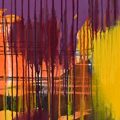 Ohne Titel, 2012, Acryl auf Nessel, 135x125 cm (Ausschnitt)