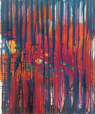 Späte Glut, 2012, Acryl auf Nessel, 120x100cm