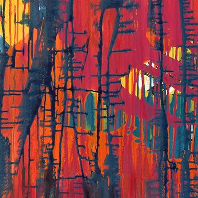 Späte Glut, 2012, Acryl auf Nessel, 120x100cm (Ausschnitt)