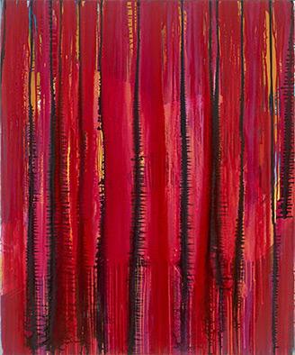 Verschlossen, 2012, Acryl auf Nessel, 120x100 cm