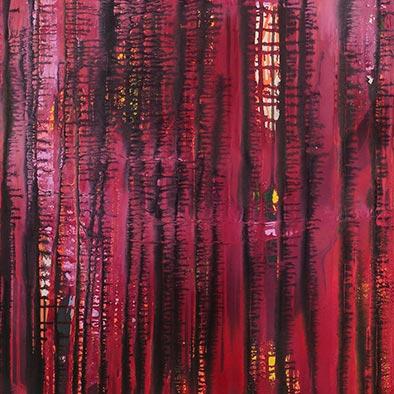 Ohne Titel (Tango), Acryl auf Nessel, 135x115 cm (Ausschnitt)