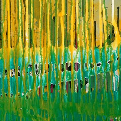 Frühlingsregen, 2008, Acryl auf Nessel, 105x135 cm (Ausschnitt)