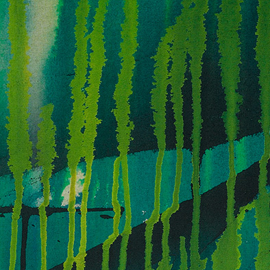 Unter Wasser I, 2009, Acryl auf Nessel, 70x80 cm (Ausschnitt)