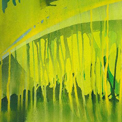 Unter Wasser II, 2009, Acryl auf Nessel, 50x60 cm (Ausschnitt)