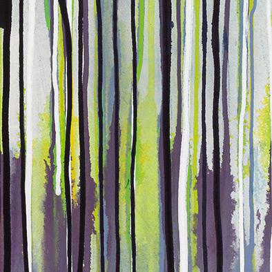 Indigo-Violett auf Grün, 2011, Acryl auf Nessel, 135x70 cm (Ausschnitt)