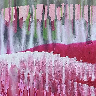 Magenta im Grün verlaufend, 2008, Acryl auf Nessel, 70x80 cm (Ausschnitt)