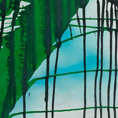 Grün aufsteigend, 2010, Acryl auf Nessel, 135x115 cm (Ausschnitt)