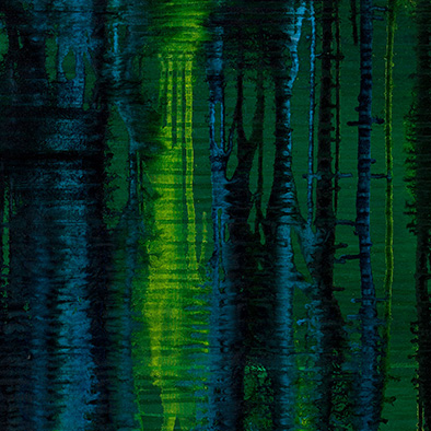 Backwater III, 2008/2014, Acryl auf Nessel, 135x105 cm (Ausschnitt)