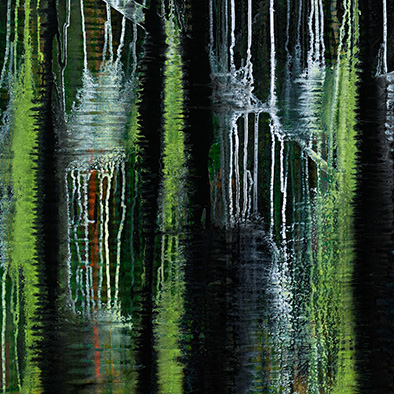 Backwater V, 2008/2014, Acryl auf Nessel, 135x105 cm (Ausschnitt)