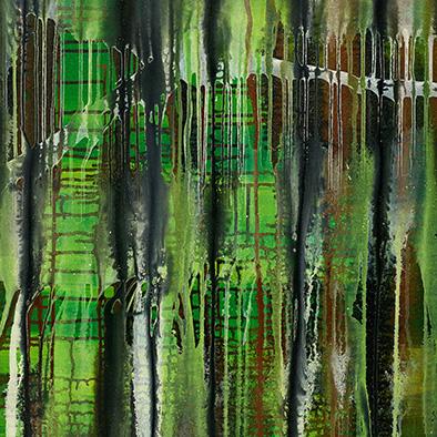 Backwater VI, 2014, Acryl auf Nessel, 100x120 cm (Ausschnitt)