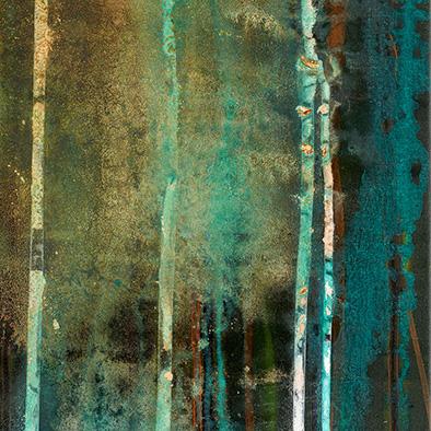 Backwater XI, 2014, Acryl, Schellack auf Nessel, 70x50 cm (Ausschnitt)