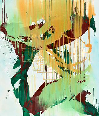 Befreit, 2014, Acryl auf Nessel, 135x115 cm