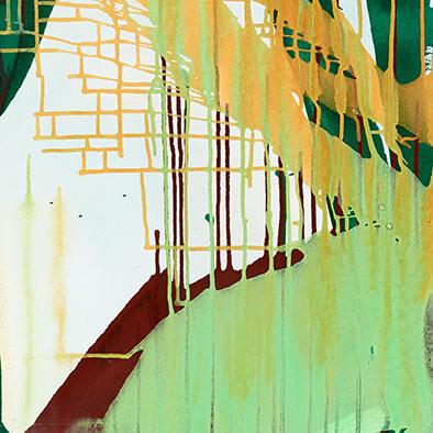 Befreit, 2014, Acryl auf Nessel, 135x115 cm (Ausschnitt)