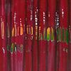 Gebrochen, 2013, Acryl, Schellack auf Nessel, 120x100 cm
