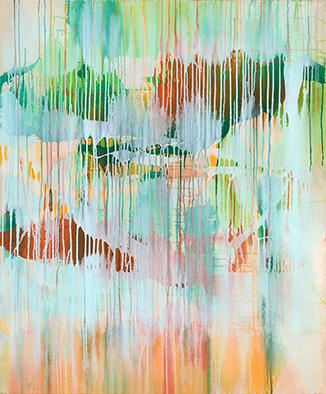 Nach dem Regen, 2013, Acryl auf Nessel, 120x100 cm