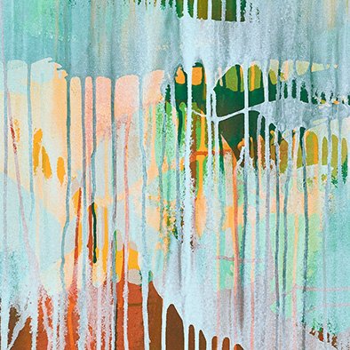 Nach dem Regen, 2013, Acryl auf Nessel, 120x100 cm (Ausschnitt)