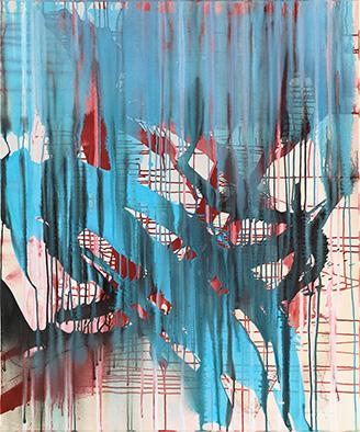 Ohne Titel, 2014, Acryl auf Nessel, 120x100 cm
