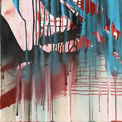 Ohne Titel, 2014, Acryl auf Nessel, 120x100 cm (Ausschnitt)