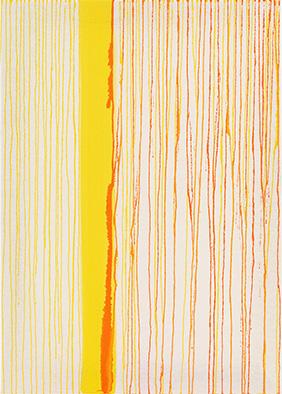 Transparenz und Dichte IV, 2013, Acryl auf Nessel, 70x50 cm