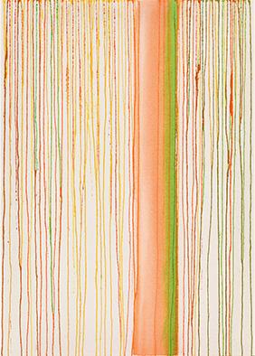 Transparenz und Dichte XI, 2013, Acryl auf Nessel, 70x50 cm