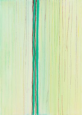 Transparenz und Dichte XII, 2014, Acryl auf Nessel, 70x50 cm