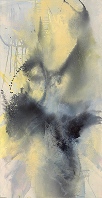 Fantasma IV, 2020, Acryl auf Nessel, 135x70 cm