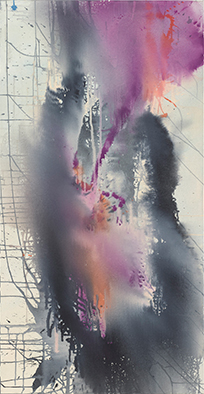 Marathon, privat, 2020, Acryl auf Nessel, 135x70 cm