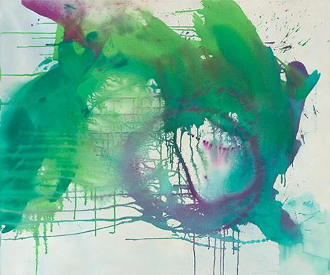 Frühlingsluft III, 2020, Acryl auf Nessel, 100x120 cm