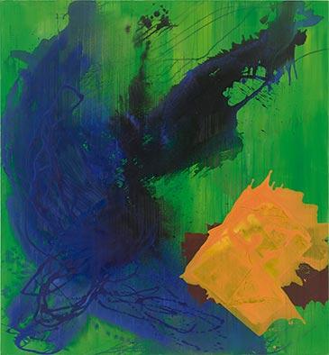 Immergrün ist Violett, 2013/2016, Acryl auf Nessel, 135x125 cm