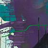 Grün Gewesenes I, 2016, Acryl auf Nessel, 135x70 cm