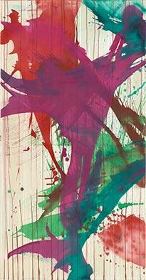 Tanz I, 2015, Acryl auf Nessel, 135x70 cm