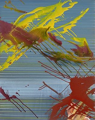 Widerstand, 2010/2015, Acryl auf Nessel, 100x80 cm