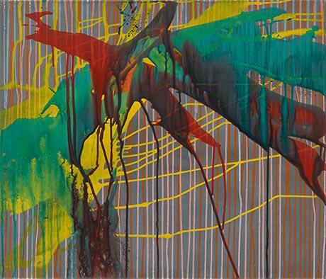 Nachtflug, 2004/2015, Acryl auf Leinwand, 60x70 cm