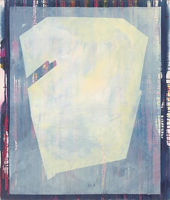 Verfestigt, 2013/2019, Acryl auf Nessel, 135x115 cm