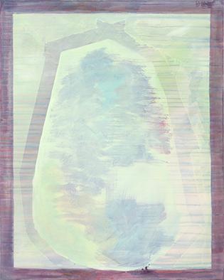 Abendhimmel/Verschwunden, 2009/2019, Acryl auf Nessel, 100x80 cm